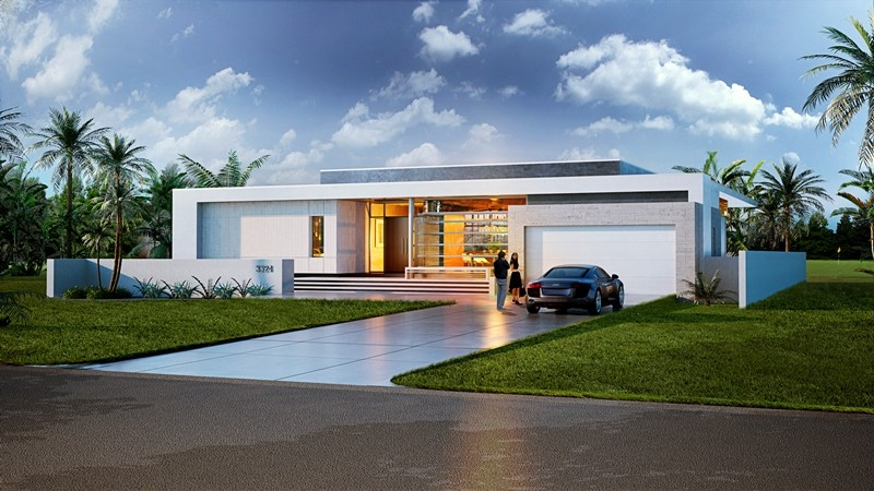 21st century modern florida living homes for Modern florida homes